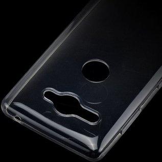 Merkloos Hoesje voor Sony Xperia XZ2 Compact, gel case, doorzichtig
