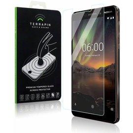 Merkloos Screenprotector voor Nokia 6.1 (2018), tempered glass (glazen screenprotector)