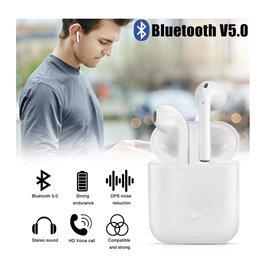 Ntech Wit Draadloze Bluetooth oordopjes - 2Stuks (L&R) Inclusief oplaadbox - Android & Apple toestel