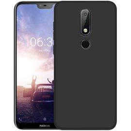 Ntech Ntech Nokia 5.1+ (Plus) Hoesje Silicone Hoesje Flexible & Scratch Resistent TPU Case - Zwart