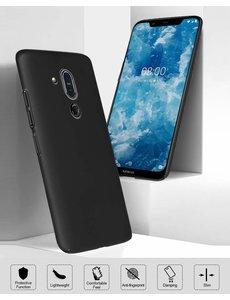 Ntech Ntech Nokia 8.1 (Nokia X7) Hoesje Silicone Hoesje Flexibel & Scratch Resistent TPU Case - Zwart