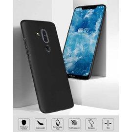 Ntech Ntech Nokia 8.1 (Nokia X7) Hoesje Silicone Hoesje Flexible & Scratch Resistent TPU Case - Zwart
