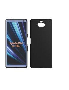 Ntech Ntech Sony Xperia 10 Ultra Hoesje Silicone Hoesje Flexibel & Scratch Resistent TPU Case - Zwart