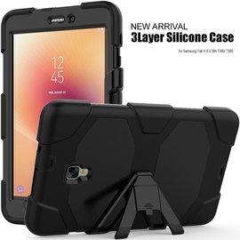 Ntech Ntech Samsung Galaxy Tab A 8.0 T380 / T385  Extreme Armor hoesje met standaard & 3 lagen shockproof Case-Zwart