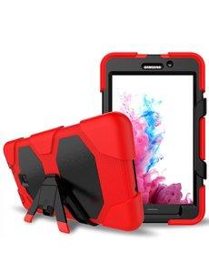 Ntech Ntech Samsung Galaxy Tab A 7.0 T280 Extreme Armor hoesje met standaard & 3 lagen shockproof Case-Rood