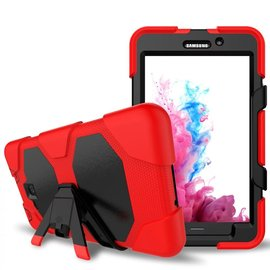 Ntech Ntech Samsung Galaxy Tab A 7.0 T280 Hybrid Armor Hoes met standaard & 3 lagen shockproof Case-Rood