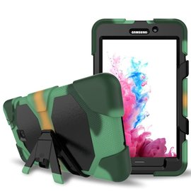 Ntech Ntech Samsung Galaxy Tab A 7.0 T280 Extreme Armor hoesje met standaard & 3 lagen shockproof Case-Camouflage