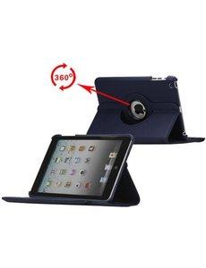 Merkloos 360 graden draaibare hoesje donker blauw iPad 2 3 en 4