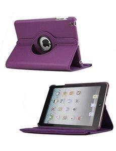 Merkloos 360 graden draaibare hoesje paars iPad 2 3 en 4