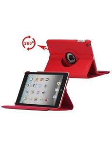 Merkloos 360 graden draaibare hoesje rood iPad 2 3 en 4