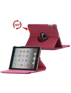 Merkloos 360 graden draaibare hoesje roze iPad 2 3 en 4