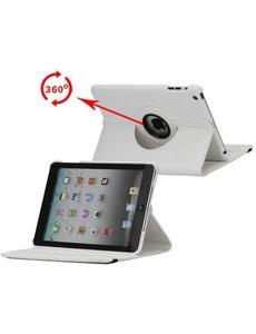 Merkloos 360 graden draaibare hoesje wit iPad 2 3 en 4