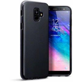 Merkloos Hoesje voor Samsung Galaxy A6 (2018), gel case, mat zwart