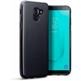 Merkloos Hoesje voor Samsung Galaxy J6 (2018), gel case, zwart