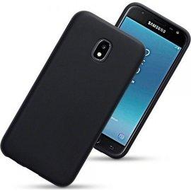 Merkloos Hoesje voor Samsung Galaxy J3 (2017), gel case, mat zwart