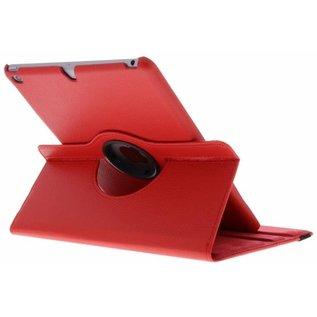 Merkloos Rode 360° draaibare tablethoes voor de iPad (2018) / (2017)