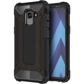Merkloos For Galaxy A7 (2018) Magic Armor TPU + PC Combination Case(Black)
