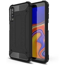 GSM- hoesje Armor Hybrid Samsung Galaxy A7 (2018) Hoesje - Zwart