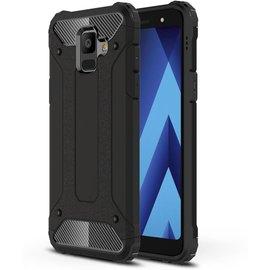 GSM- hoesje Armor Hybrid Hoesje Samsung Galaxy A6 (2018) - Zwart