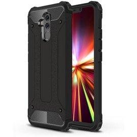 GSM- hoesje Armor Hybrid Huawei Mate 20 Lite Hoesje - Zwart