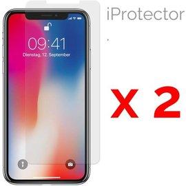 Merkloos Iphone X Glazen Screen Protector 2-Pack (2.5D 9H 0.26mm)
