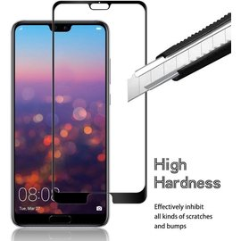 Merkloos Huawei P20 Pro Full cover HD clarity Hardness Full Coverage Bubble Free tempered glass zwart