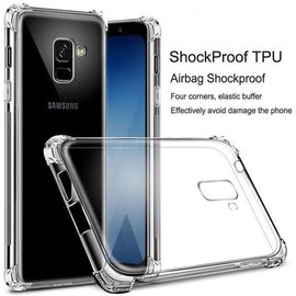 Merkloos Samsung Galaxy A6 (2018) transparant case Shockproof hoesje (verstevigde randen)