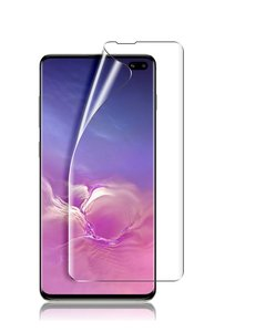 Ntech Ntech Samsung Galaxy S10+ Plus PET Folie Screenprotector Full-screen | Fingerprint Unlocking film Clear