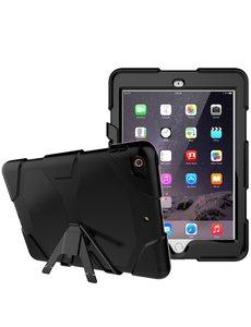 Ntech Ntech Apple iPad 9.7 (2018 / 2017) Extreme Armor hoesje met standaard & 3 lagen shockproof Case-Zwart
