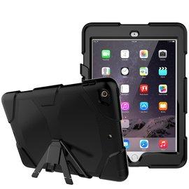 Ntech Ntech iPad 9.7 (2018 / 2017) Hybrid Armor Hoes met standaard & 3 lagen shockproof Case-Zwart