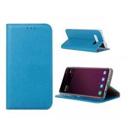 Ntech Ntech Samsung Galaxy S10 Luxe TPU / PU Leder Flip Cover met Pasjes houder & Magneetsluiting Blauw