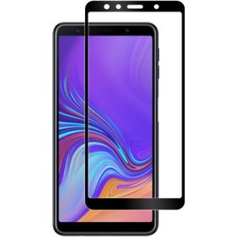 GlassPro+ Samsung Galaxy A7 2018 - Full Cover Screenprotector - Zwart