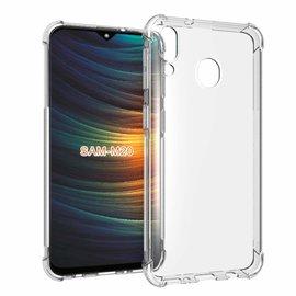 Ntech Ntech Samsung Galaxy M20 Transparent Anti Burst Hoesje / Shock Proof Crystal Clear TPU Case