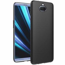 Ntech Ntech Sony Xperia 10 Hoesje Silicone Hoesje Flexible & Scratch Resistent TPU Case - Zwart