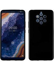 Ntech Ntech Nokia 9 PureView Hoesje Silicone Hoesje Flexibel & Scratch Resistent TPU Case - Zwart