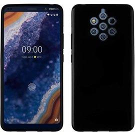 Ntech Ntech Nokia 9 PureView Hoesje Silicone Hoesje Flexible & Scratch Resistent TPU Case - Zwart