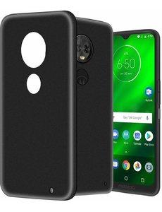 Ntech Ntech Motorola Moto G7 Plus Hoesje Silicone Hoesje Flexibel & Scratch Resistent TPU Case - Zwart