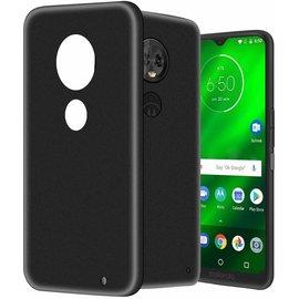 Ntech Ntech Motorola Moto G7 Plus Hoesje Silicone Hoesje Flexible & Scratch Resistent TPU Case - Zwart