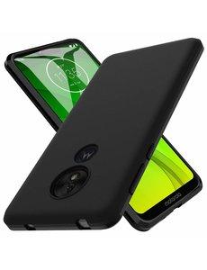 Ntech Ntech Motorola Moto G7 Power Hoesje Silicone Hoesje Flexibel & Scratch Resistent TPU Case - Zwart