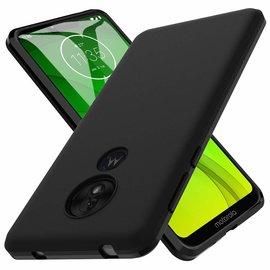 Ntech Ntech Motorola Moto G7 Power Hoesje Silicone Hoesje Flexible & Scratch Resistent TPU Case - Zwart