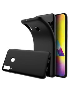 Ntech Ntech Samsung Galaxy M20 Hoesje Silicone Hoesje Flexibel & Scratch Resistent TPU Case - Zwart