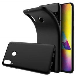 Ntech Ntech Samsung Galaxy M20 Hoesje Silicone Hoesje Flexible & Scratch Resistent TPU Case - Zwart