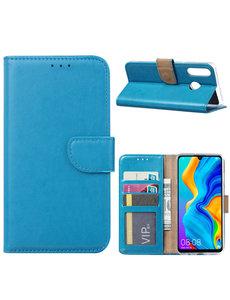 Ntech Ntech Huawei P30 Lite / P30 Lite New Edition Hoesje - portemonnee / book case - Blauw