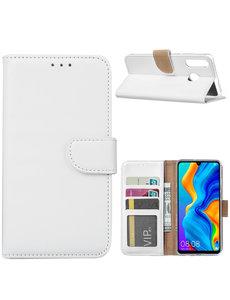 Ntech Ntech Huawei P30 Lite / P30 Lite New Edition Hoesje – portemonnee / book case - Wit