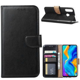 Ntech Ntech Hoesje voor Huawei P30 Lite portemonnee hoes / met opbergvakjes Zwart