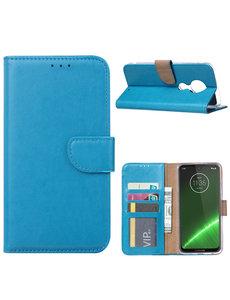 Ntech Ntech Portemonnee hoesje voor Motorola Moto G7 Plus - Blauw