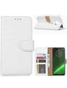 Ntech Ntech Portemonnee hoesje voor Motorola Moto G7 Plus - Wit