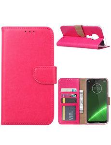 Ntech Ntech Portemonnee hoesje voor Motorola Moto G7 Plus - Roze