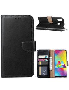 Ntech Ntech Portemonnee hoesje voor Samsung Galaxy M20 - Zwart