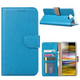 Ntech Ntech Portemonnee hoesje / met Opbergvakjes & Magneetflapje voor Sony Xperia 10 Plus - Blauw